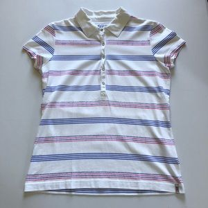 Esprit Sports Striped Polo Shirt Size Large